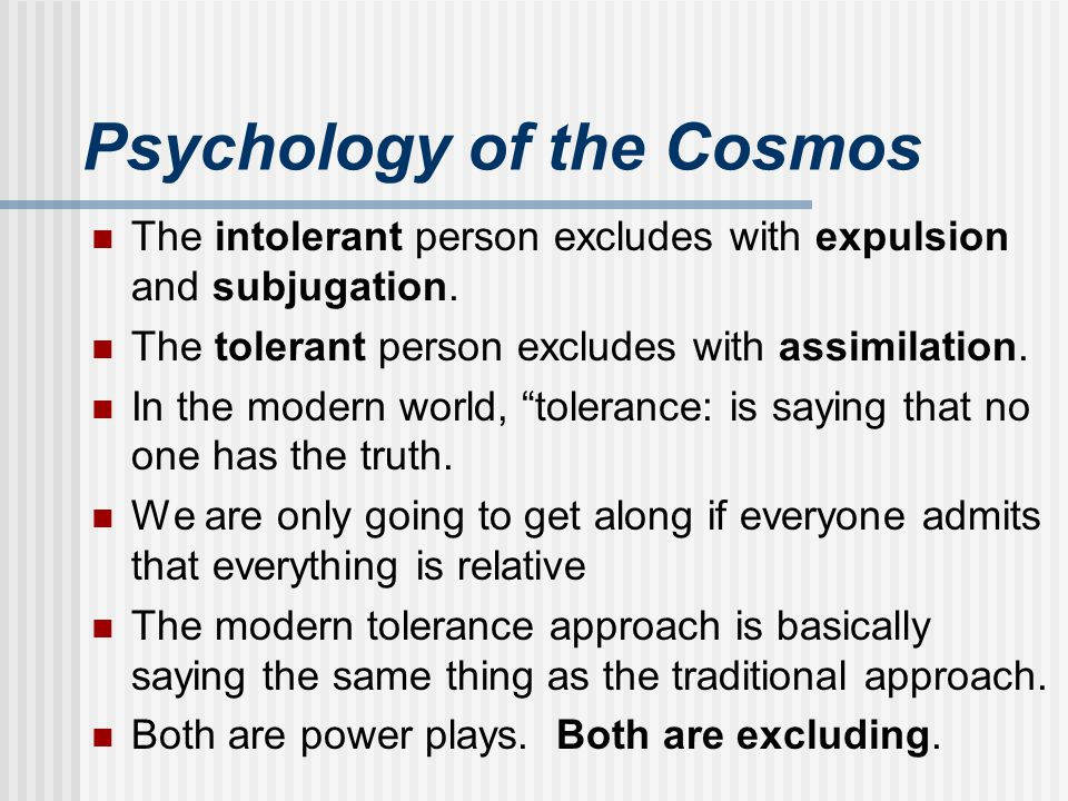 Psychology of the Cosmos