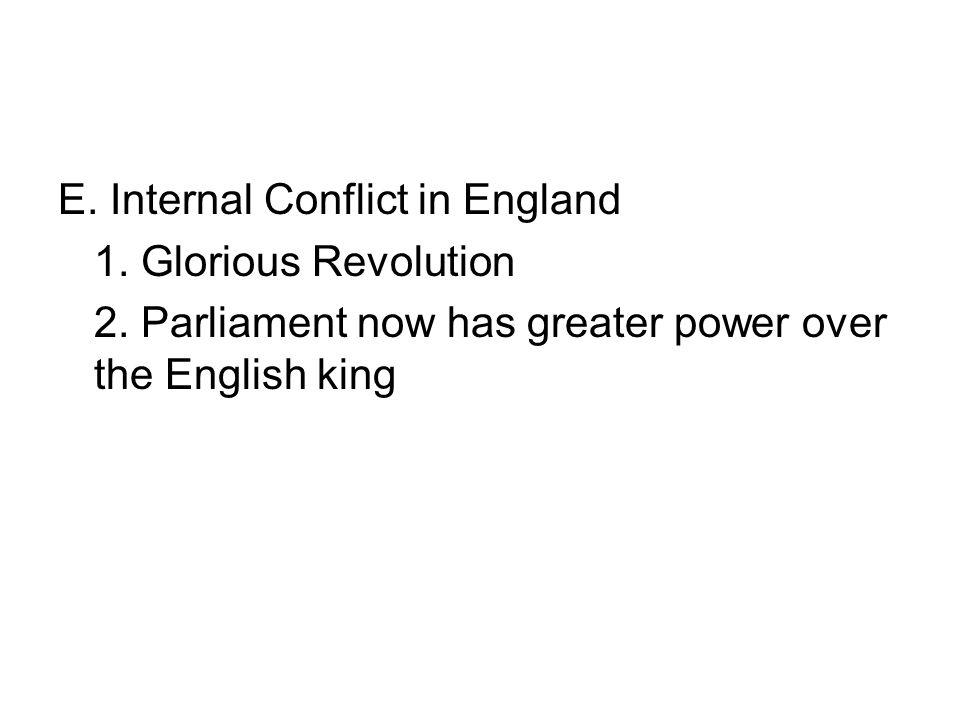 E. Internal Conflict in England