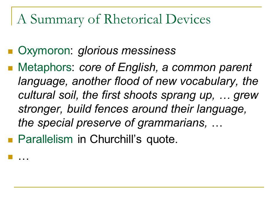 A Summary of Rhetorical Devices