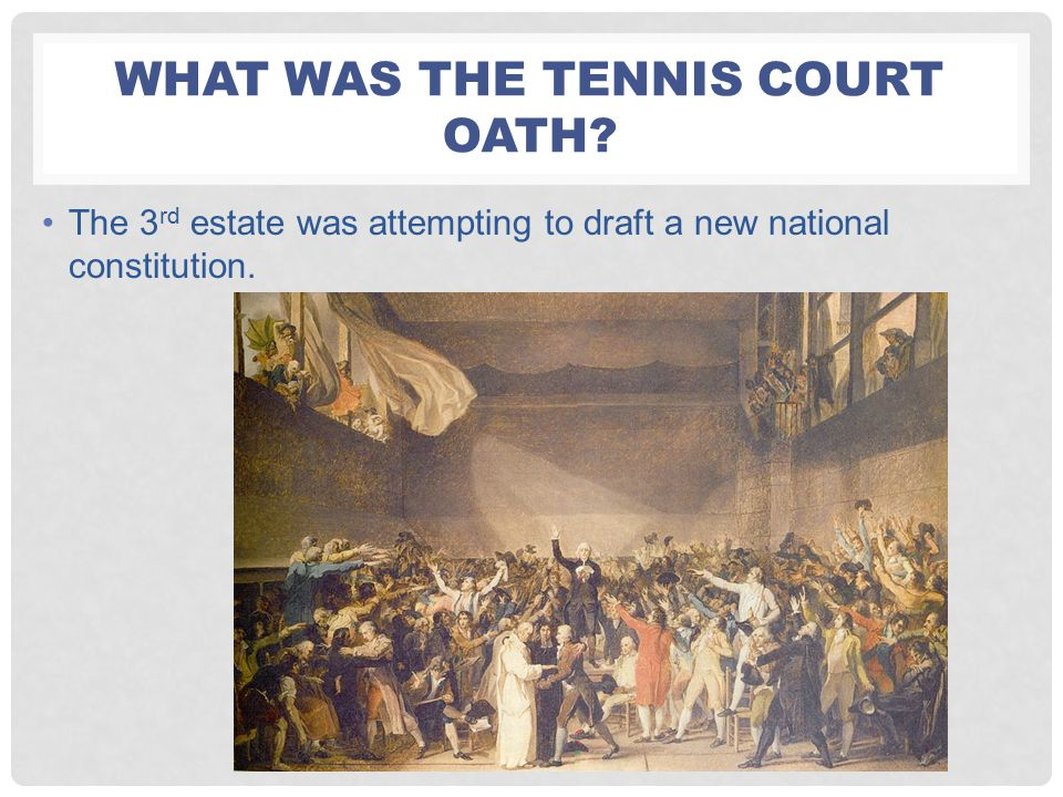 What was the Tennis court oath