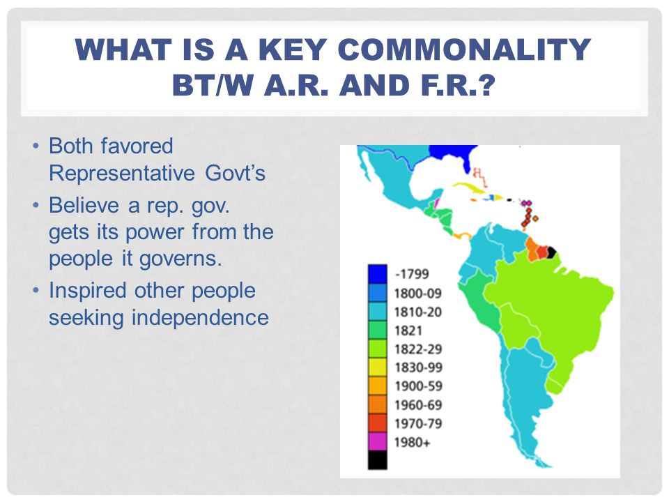 What is a key commonality bt/w A.R. and F.R.