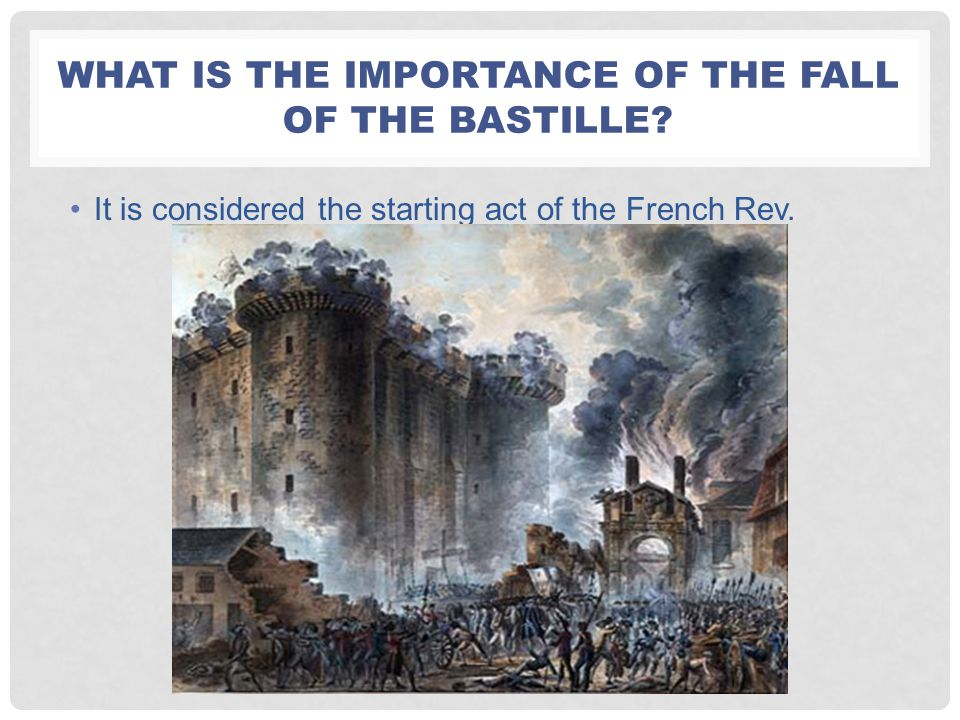 What is the importance of the Fall of the Bastille
