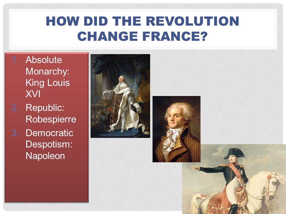 How did the Revolution change France