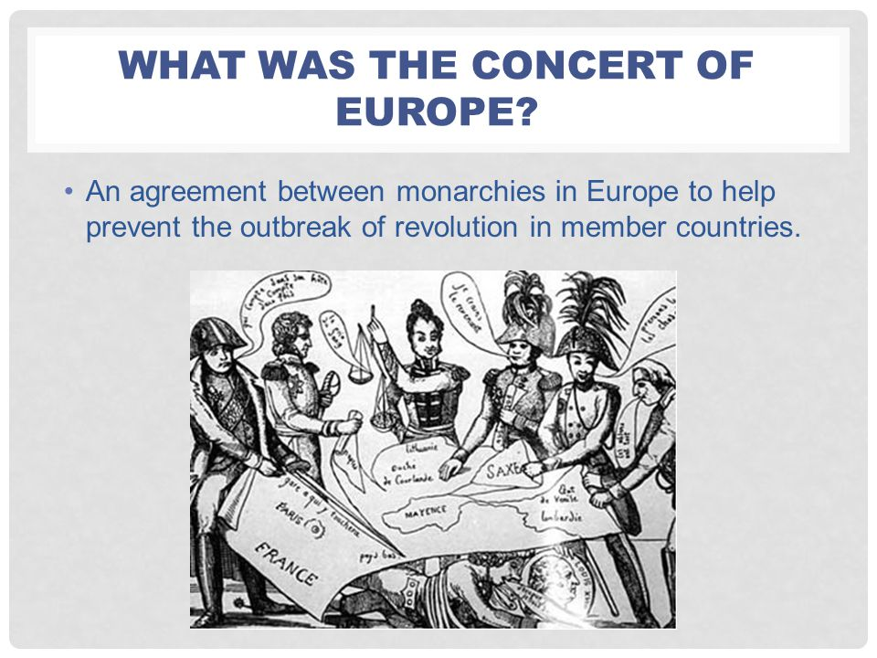 What was the concert of europe
