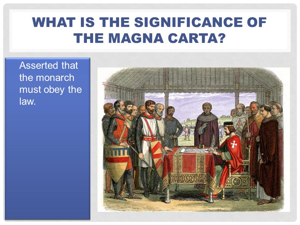 What is the significance of the Magna carta