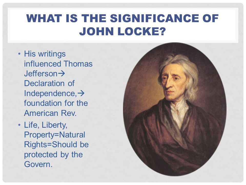 What is the significance of John Locke