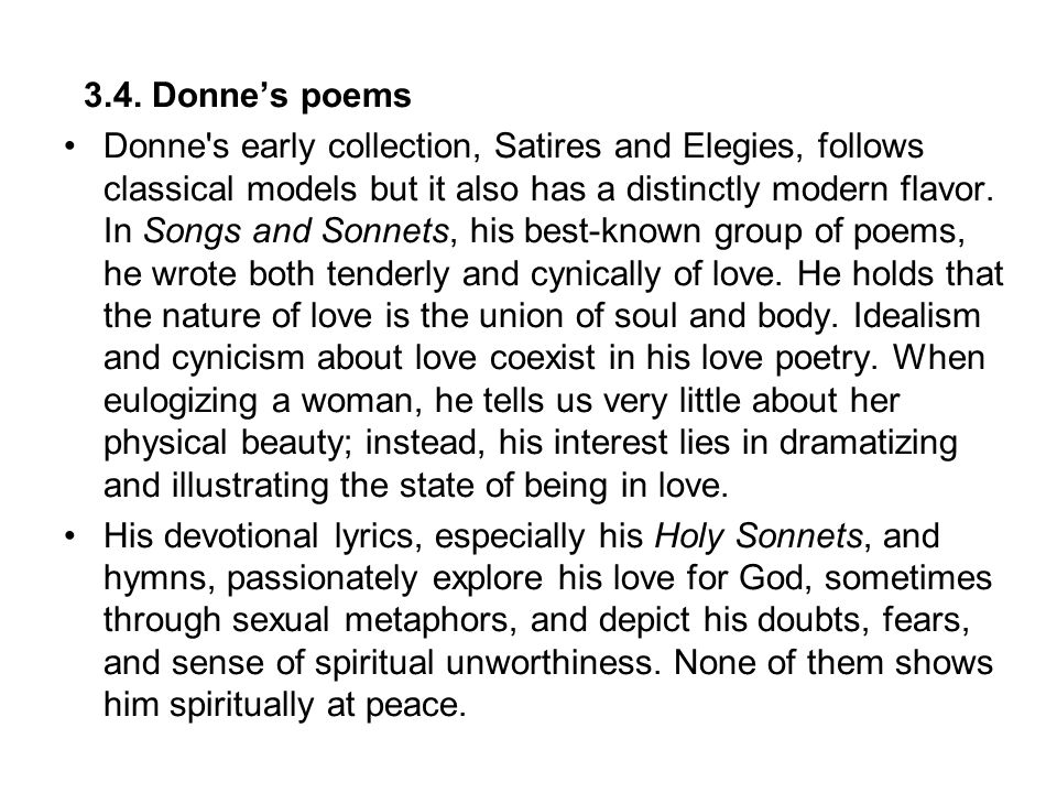 3.4. Donne's poems