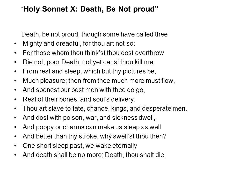 Holy Sonnet X: Death, Be Not proud