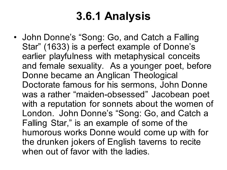 lecture th century literature metaphysical poetry john donne  3 6 1 analysis