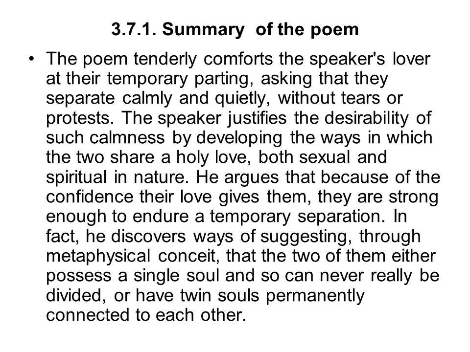 3.7.1. Summary of the poem