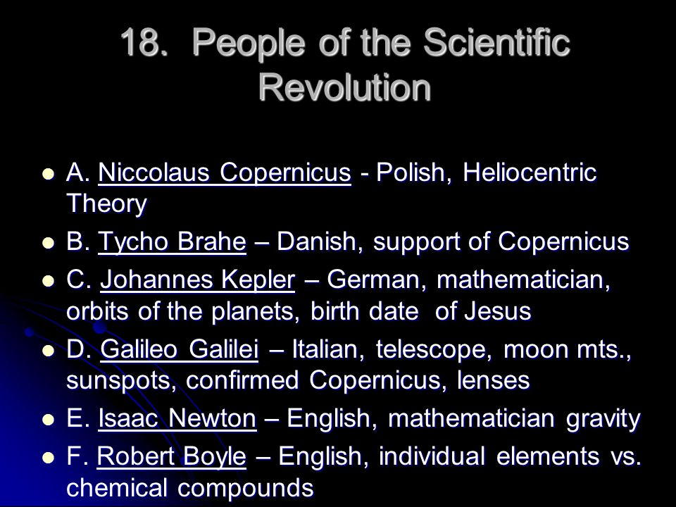 18. People of the Scientific Revolution