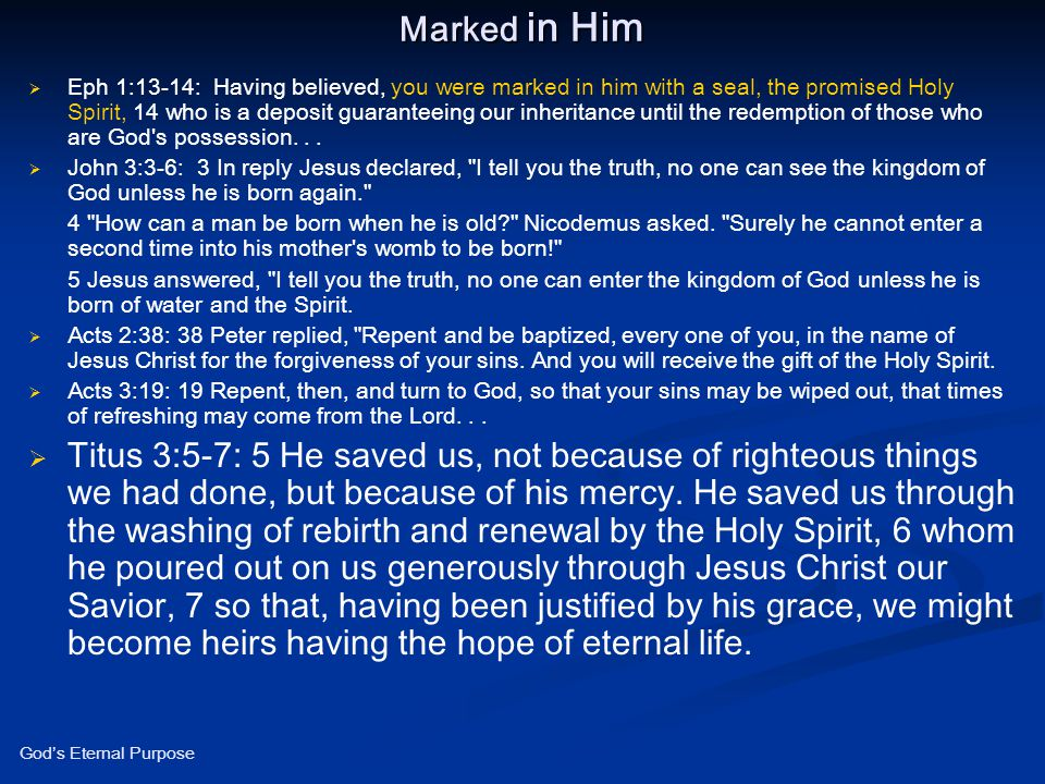 Marked in Him