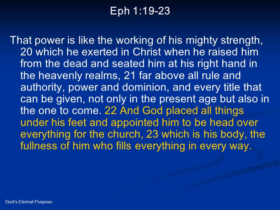Eph 1:19-23