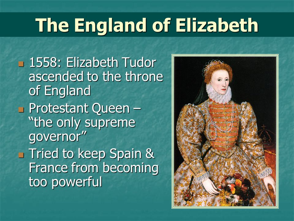 The England of Elizabeth