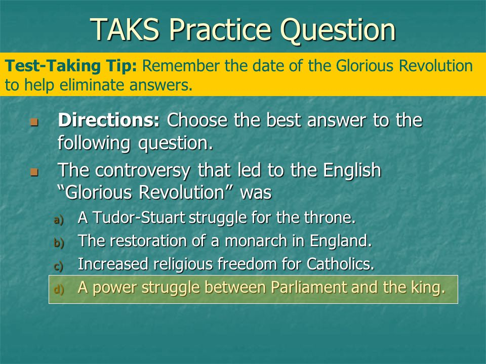 TAKS Practice Question