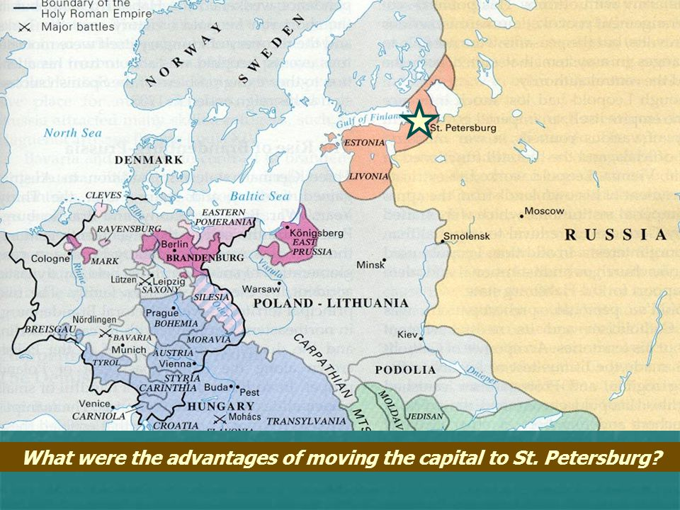 What were the advantages of moving the capital to St. Petersburg