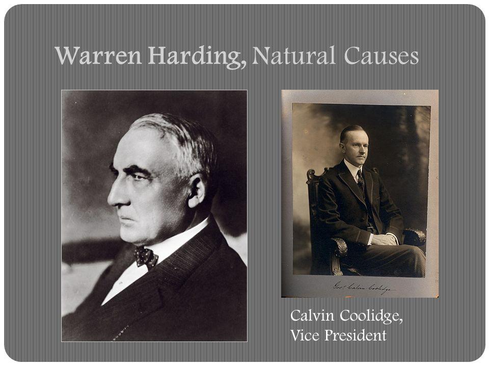 Warren Harding, Natural Causes