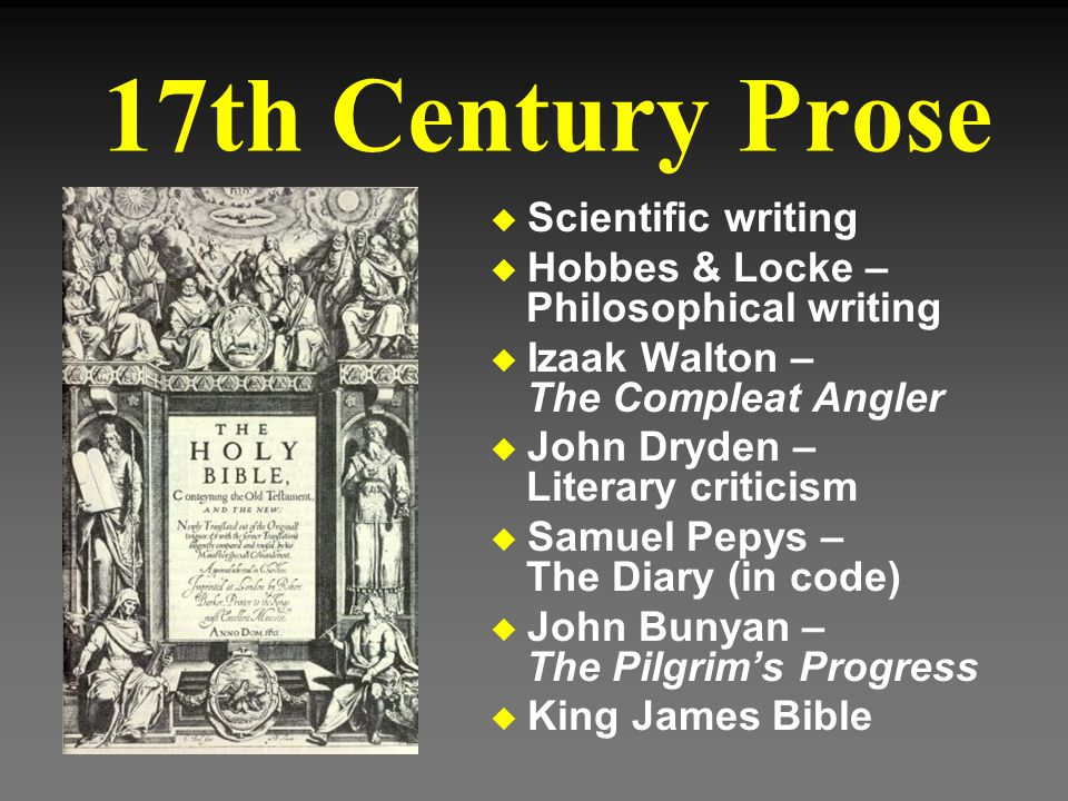 17th Century Prose Scientific writing
