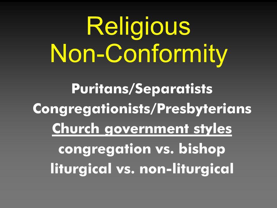 Religious Non-Conformity