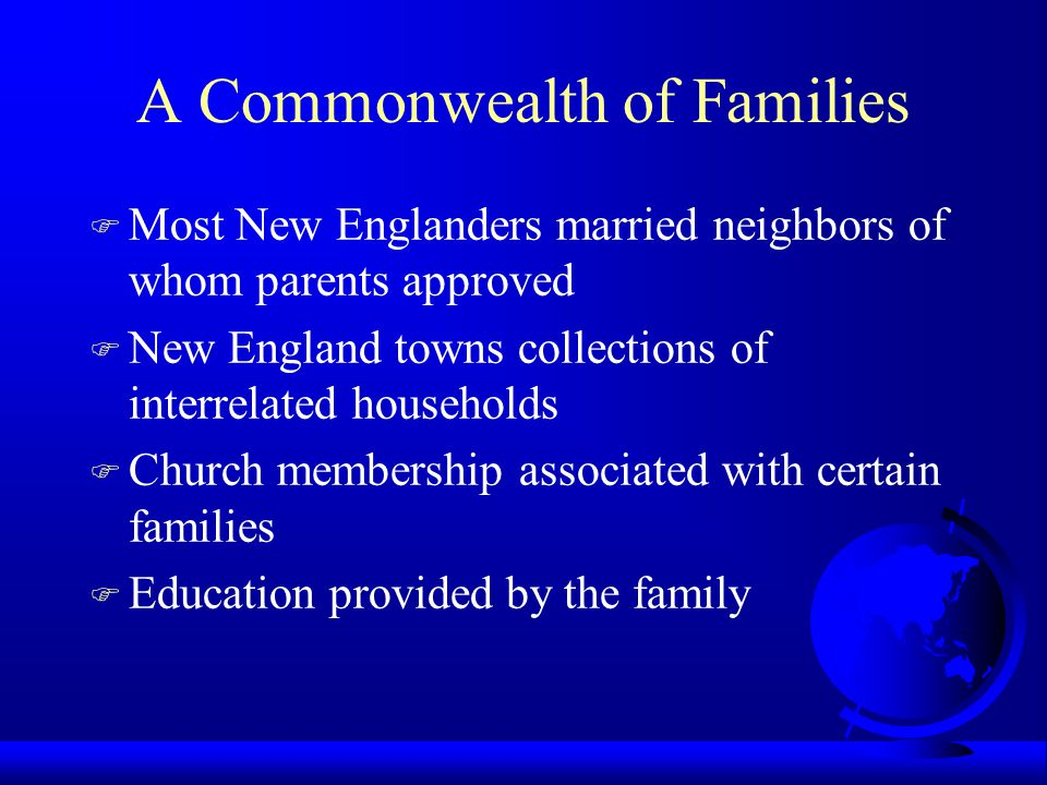 A Commonwealth of Families
