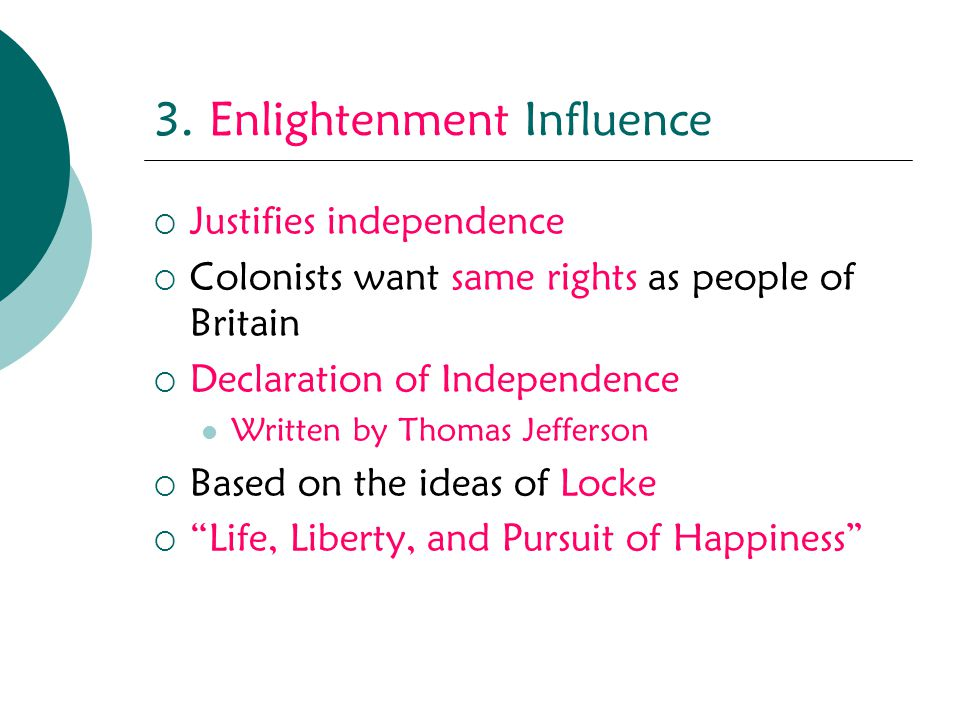 3. Enlightenment Influence