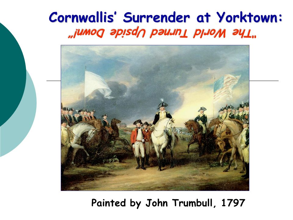 Cornwallis' Surrender at Yorktown:
