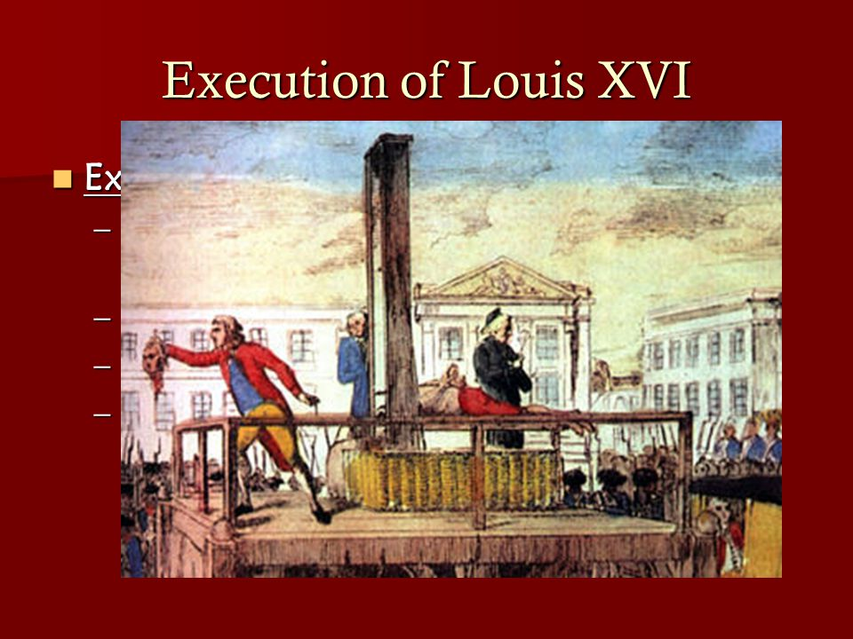 Execution of Louis XVI Execution of Louis XVI: