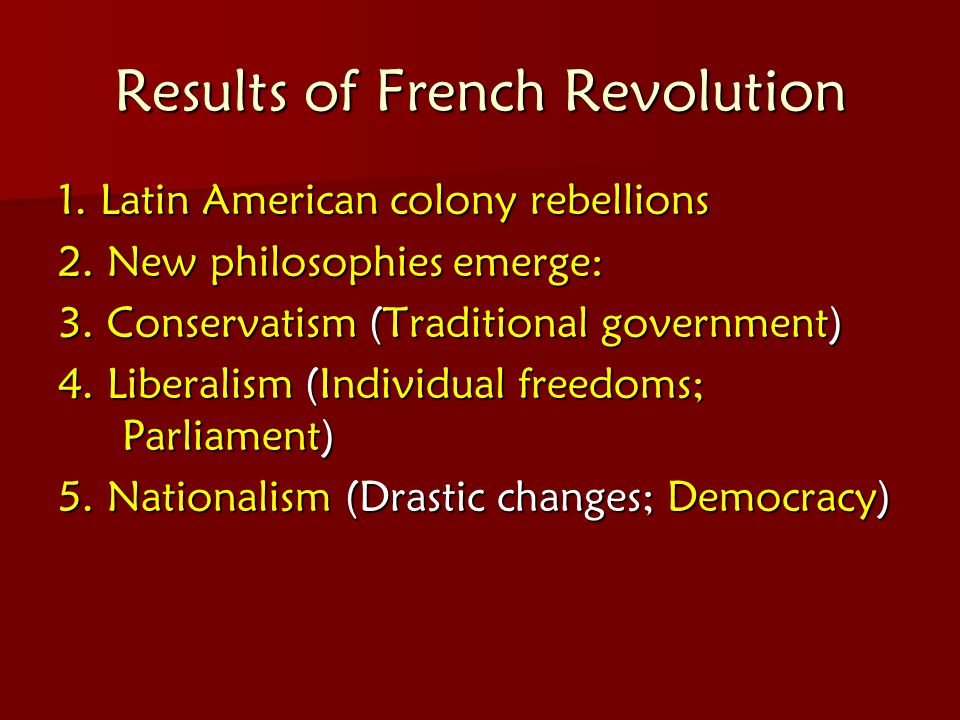 Results of French Revolution