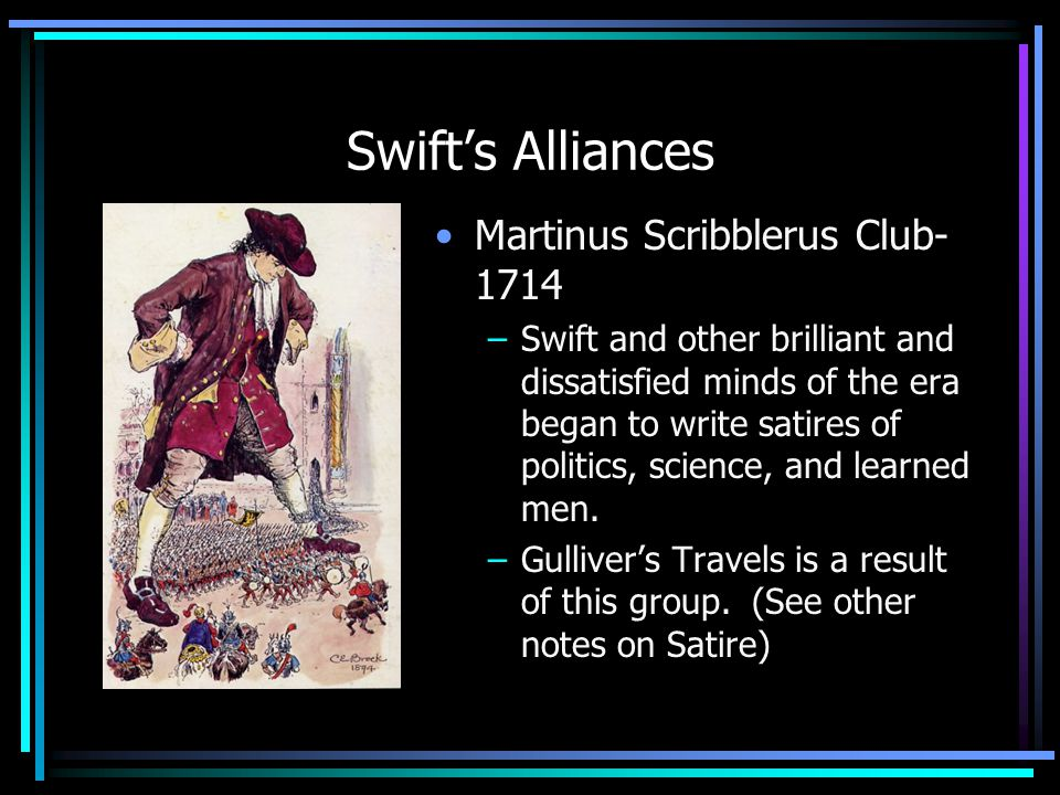 Swift's Alliances Martinus Scribblerus Club- 1714