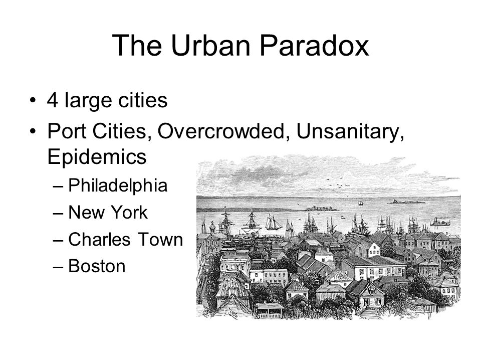 The Urban Paradox 4 large cities