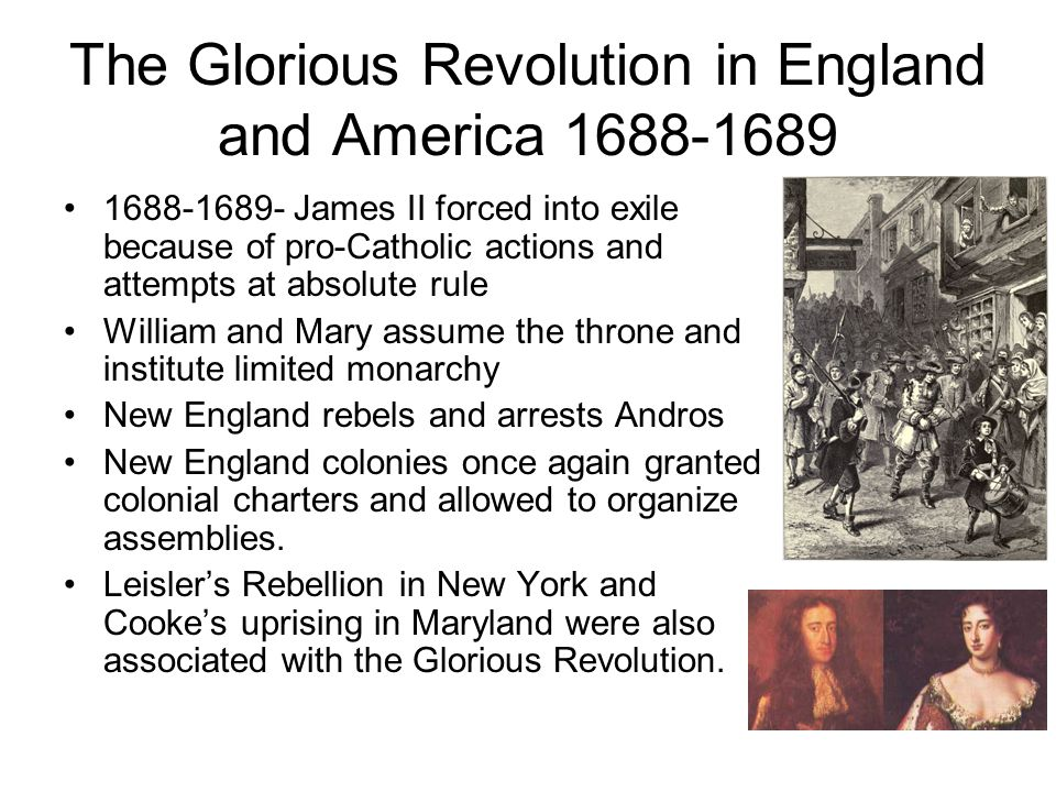 The Glorious Revolution in England and America 1688-1689