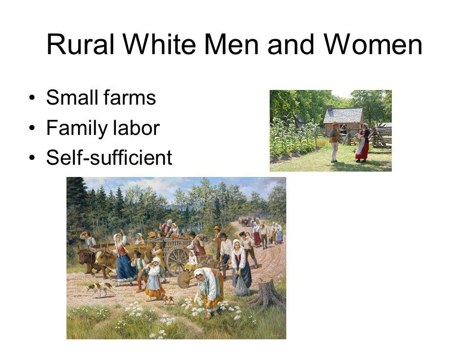Rural White Men and Women