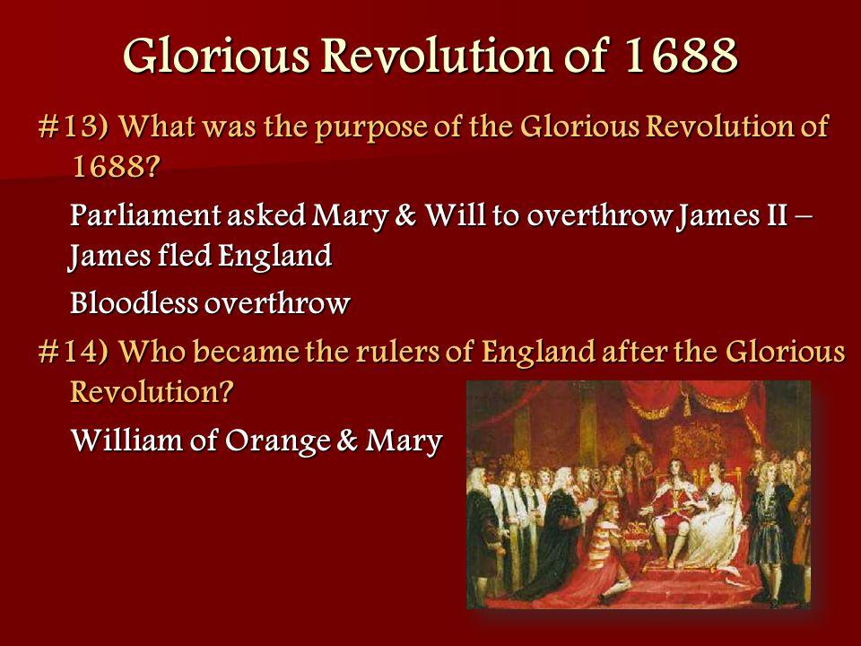 Glorious Revolution of 1688