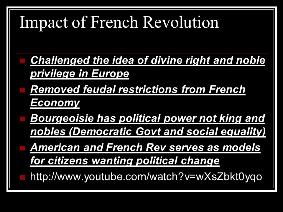 Impact of French Revolution