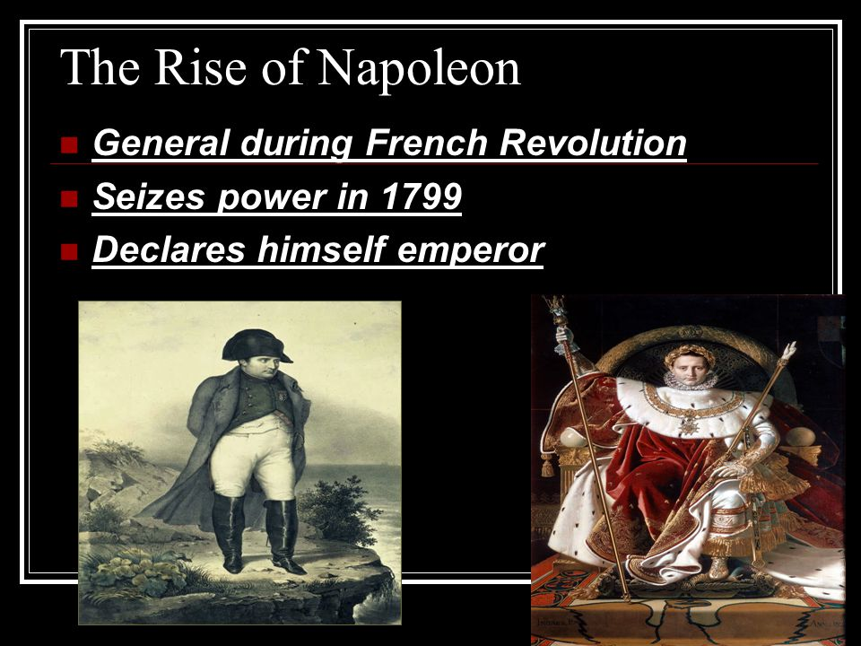 The Rise of Napoleon General during French Revolution