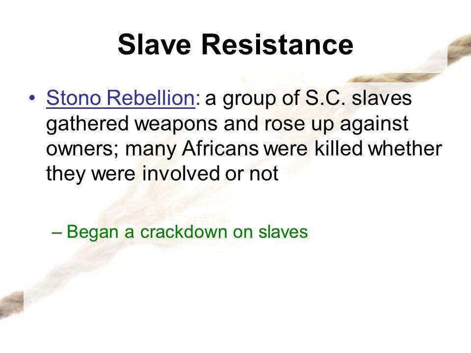 Slave Resistance
