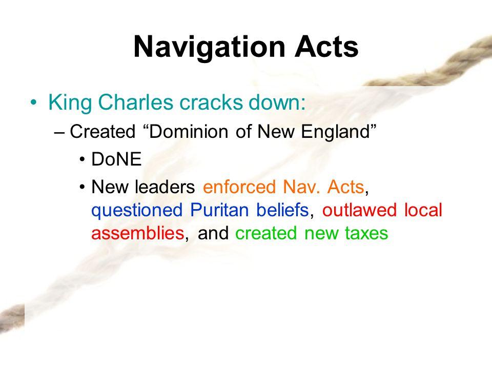 Navigation Acts King Charles cracks down: