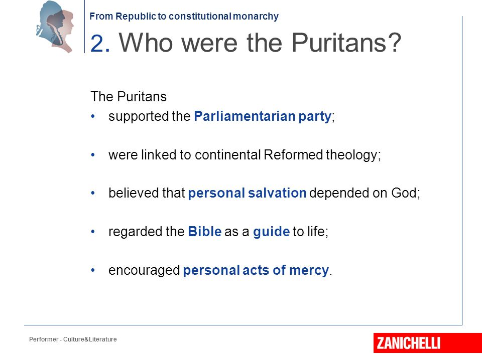 2. Who were the Puritans The Puritans