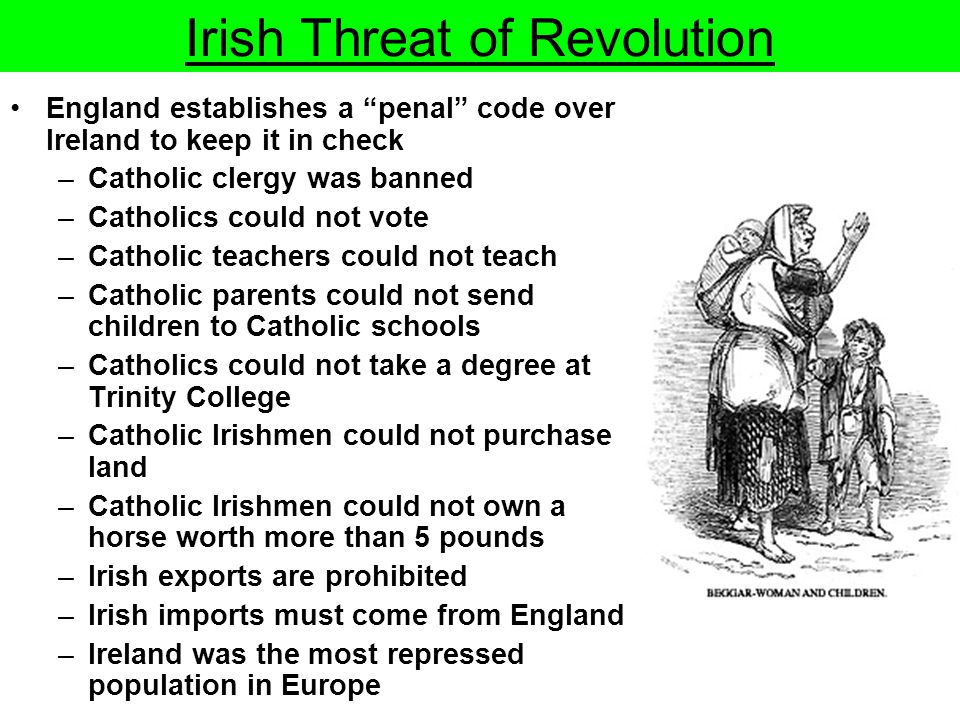 Irish Threat of Revolution