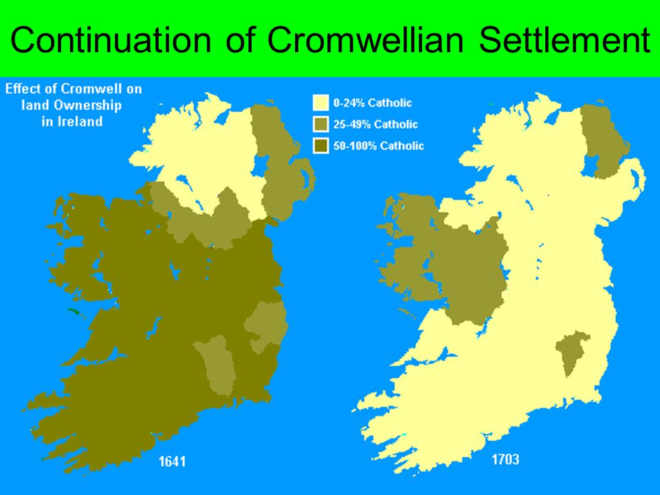 Continuation of Cromwellian Settlement