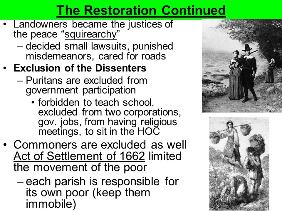 The Restoration Continued