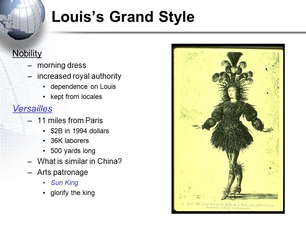 Louis's Grand Style Nobility Versailles morning dress