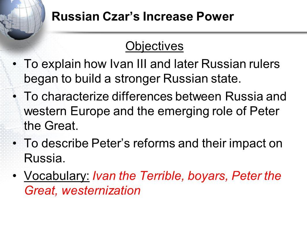 Russian Czar's Increase Power