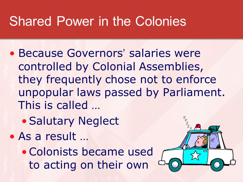 Shared Power in the Colonies