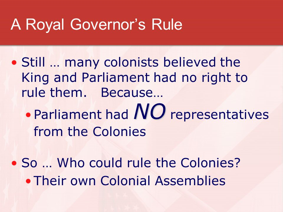 A Royal Governor's Rule
