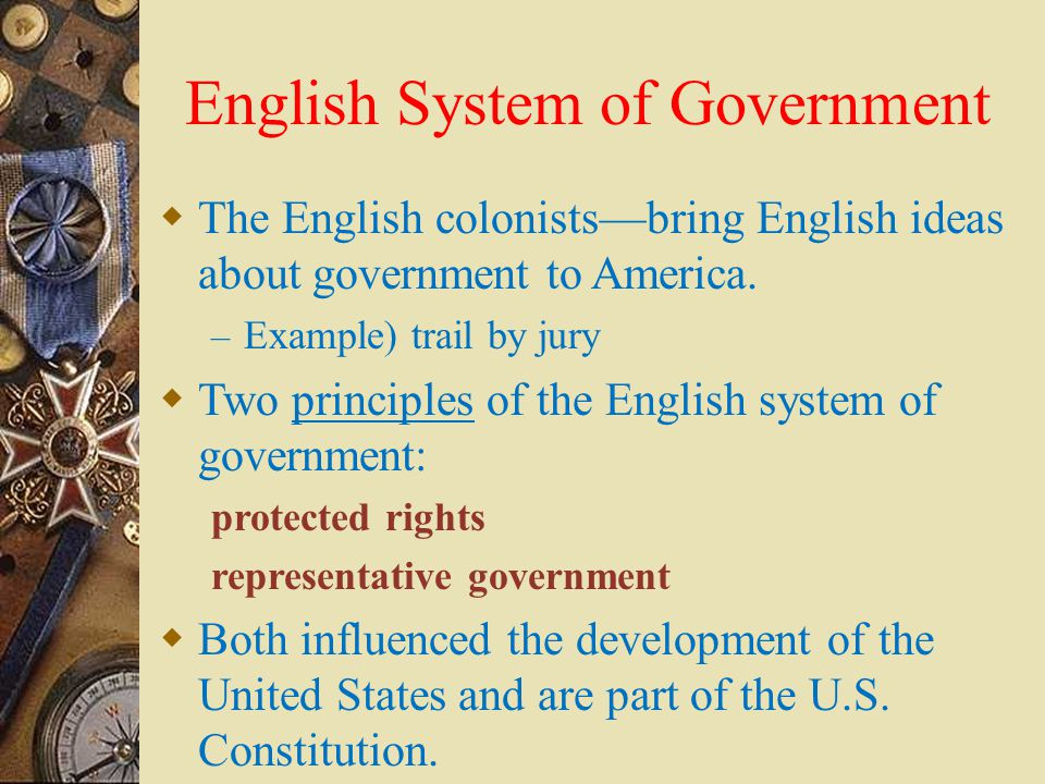 English System of Government