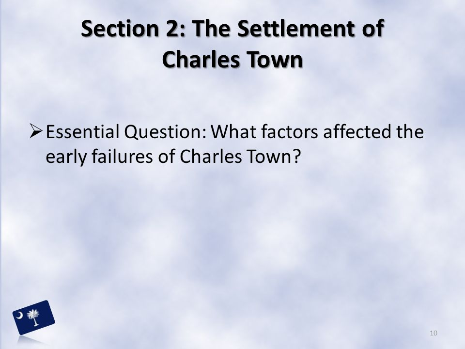 Section 2: The Settlement of Charles Town