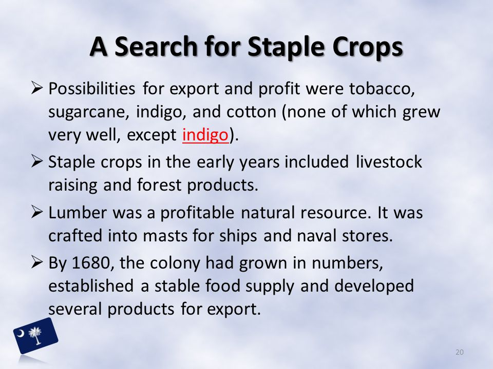 A Search for Staple Crops