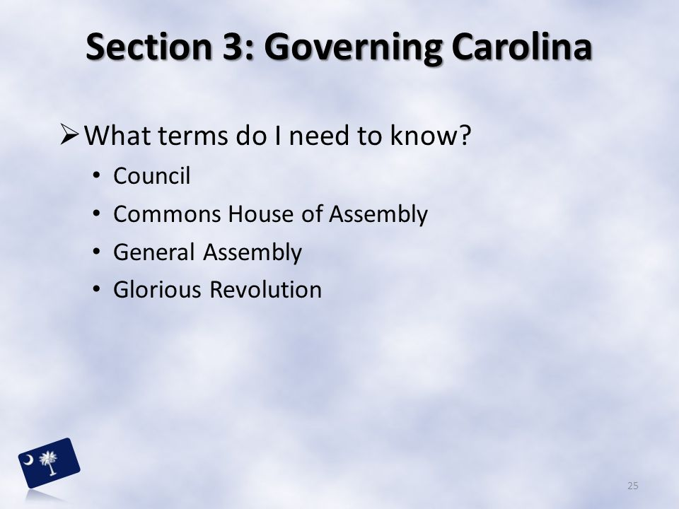Section 3: Governing Carolina