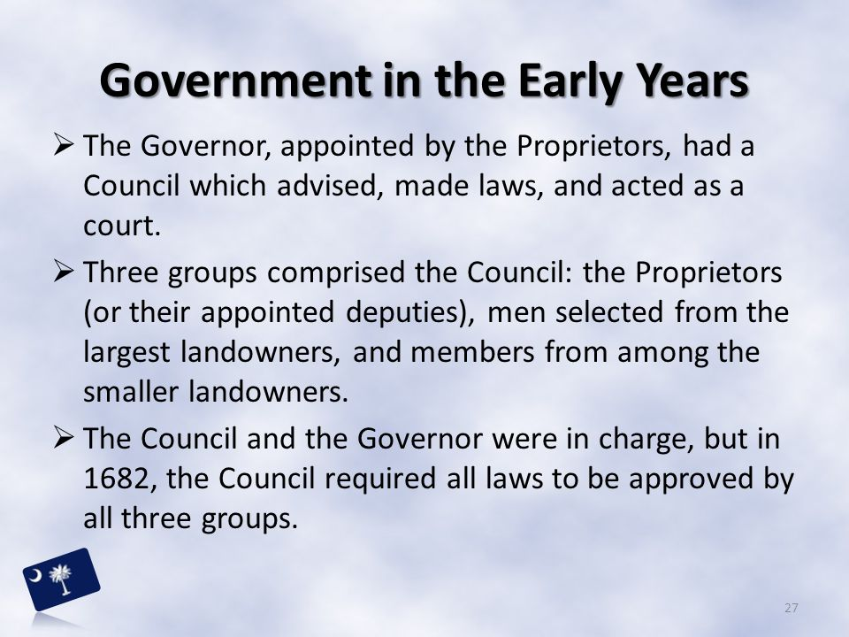 Government in the Early Years